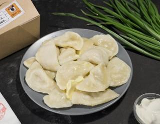 Вареникикартофель картофель и печень капуста творог, 300 гр-650 тг
